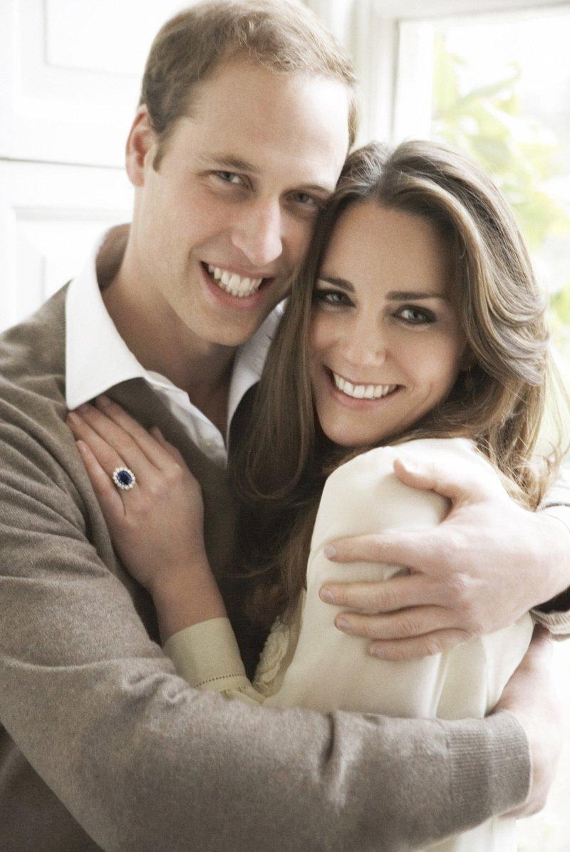 Anel de Noivado Safira Kate Middleton