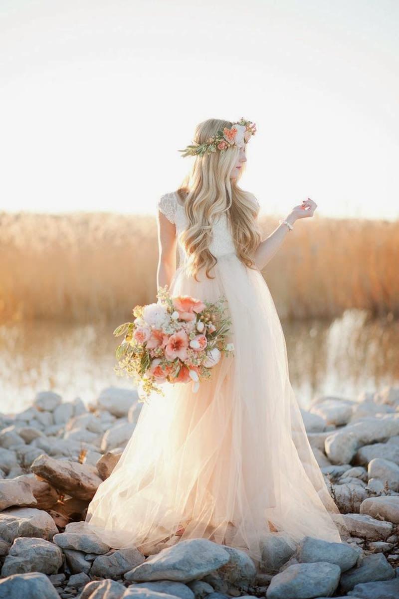 20 Vestidos De Noiva Boho Chic Para Voc 234 Se Inspirar