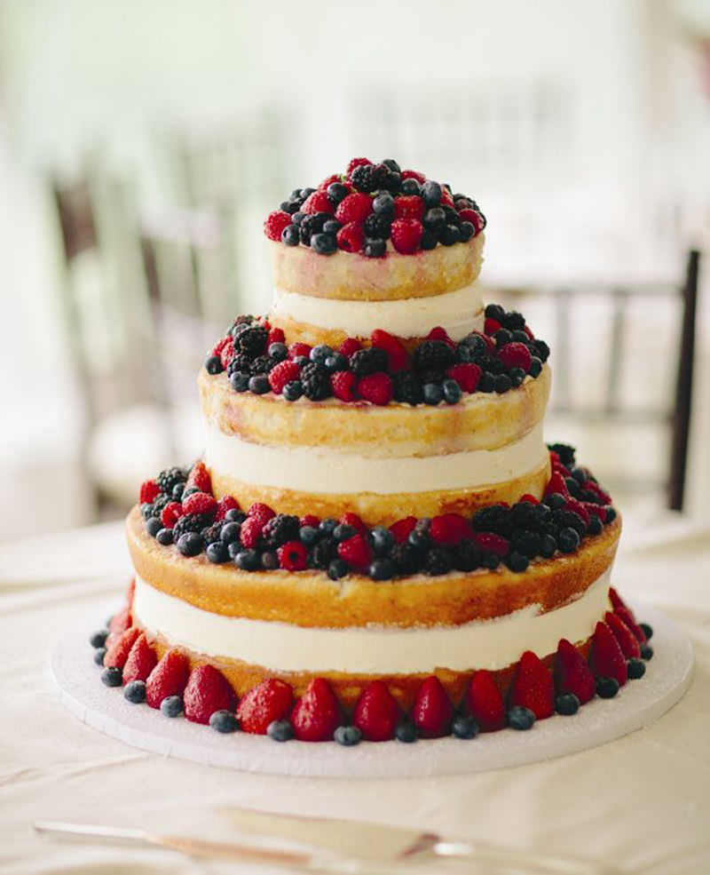 Sweet And Simple Naked Wedding Cakes: 65 Ideias De Naked Cake Para Decorar Sua Mesa De Casamento