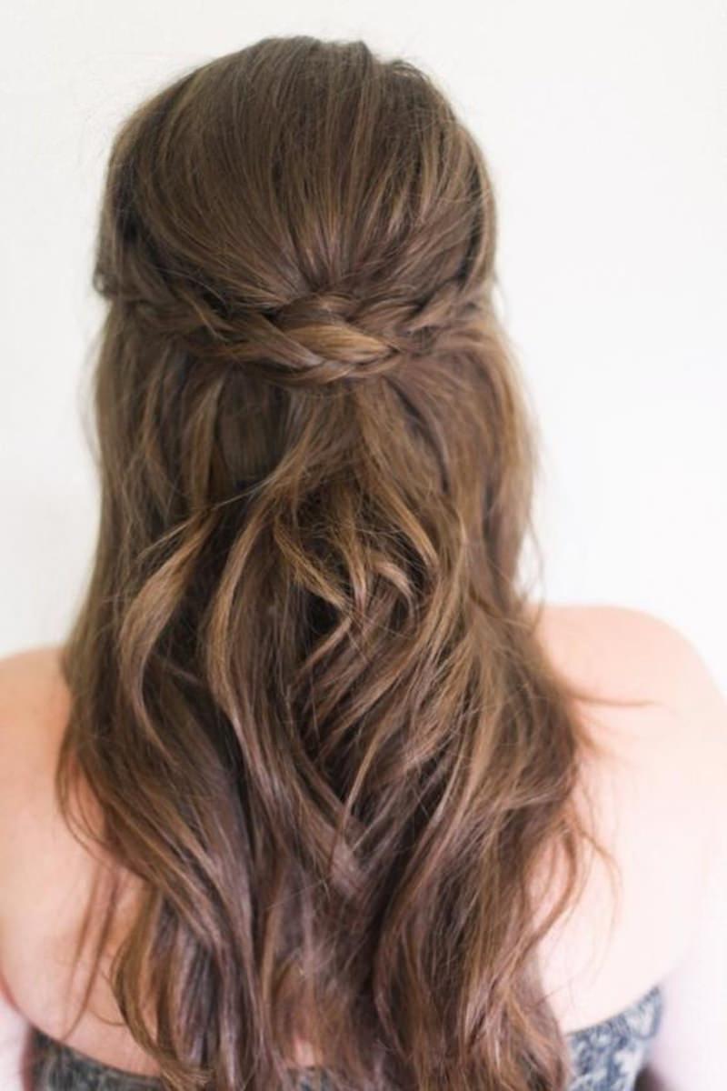 penteados semi presos para madrinhas de casamento e simples