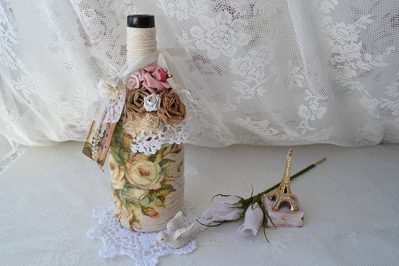 Tutorial: garrafas decoradas com barbante para festa de