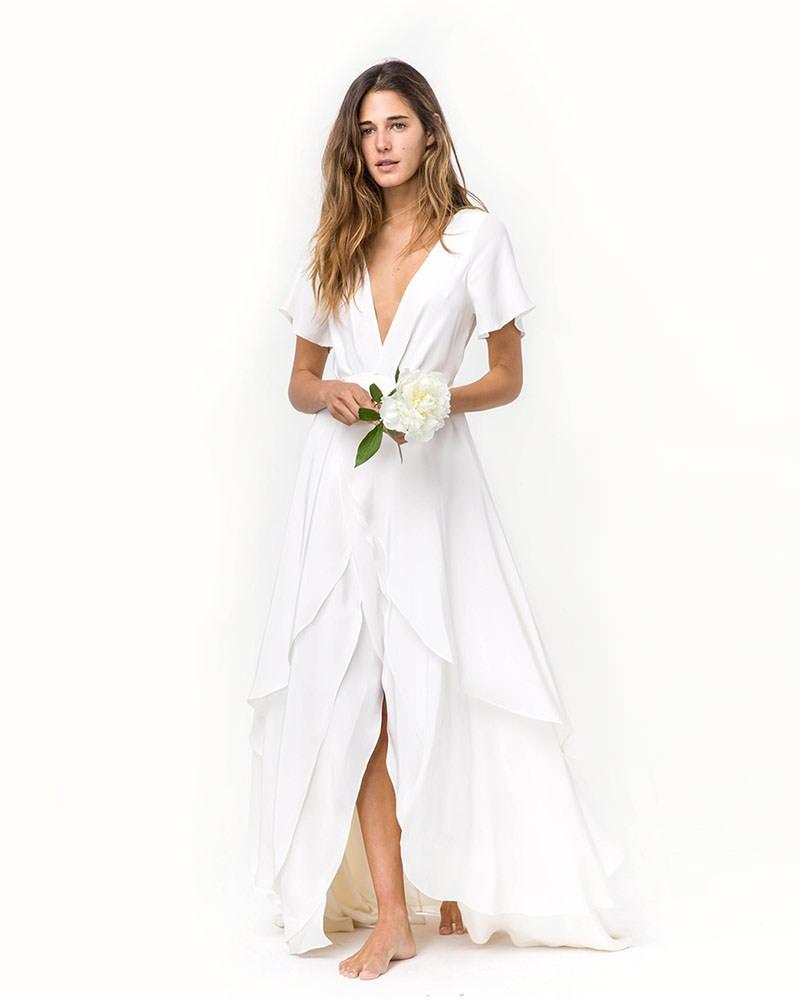 Dresses For Beach Wedding Ceremony: 24 Fotos De Vestidos De Noiva Simples E Discretos Para