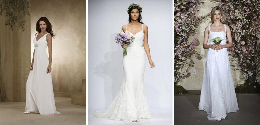 4a6781dfc 24 fotos de vestidos de noiva simples e discretos para você se inspirar -  eNoivado