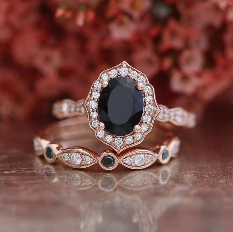 20 An 233 Is De Noivado Com Diamante Escuro Para As Noivas Com