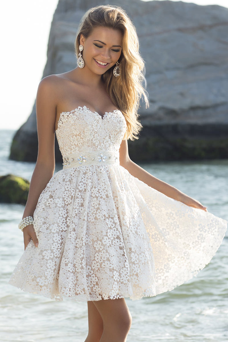 Vestido de noiva curto justo