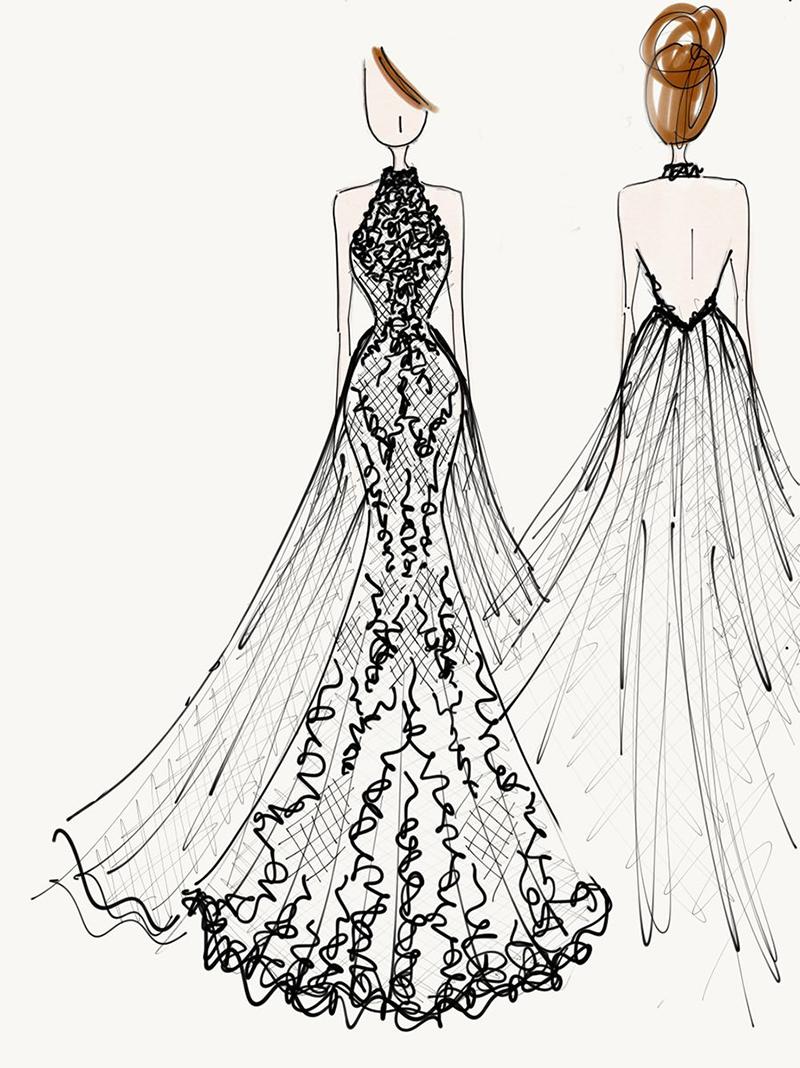 croqui-vestido-de-noiva-Carol-Hungria-embutimento-de-cauda