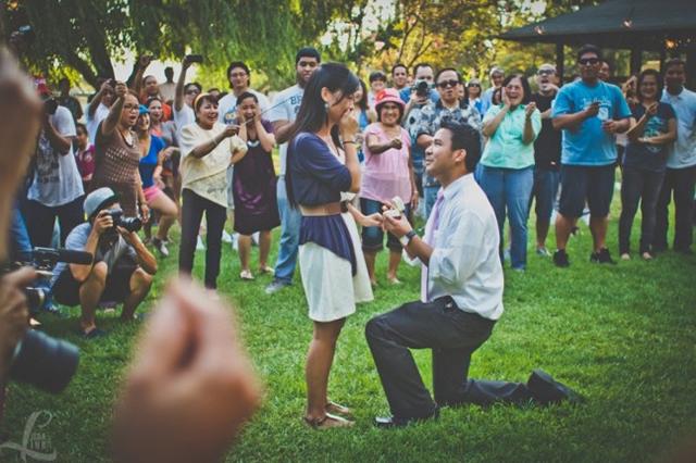 Pedido de casamento em Flash Mob