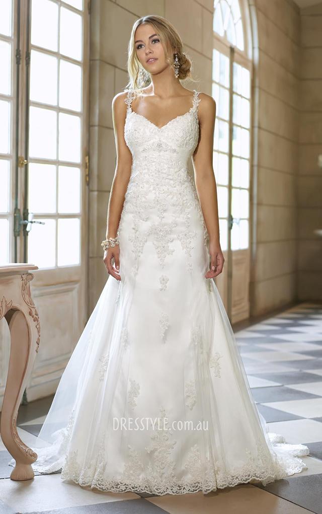 Vestido de noiva para silhueta retangular