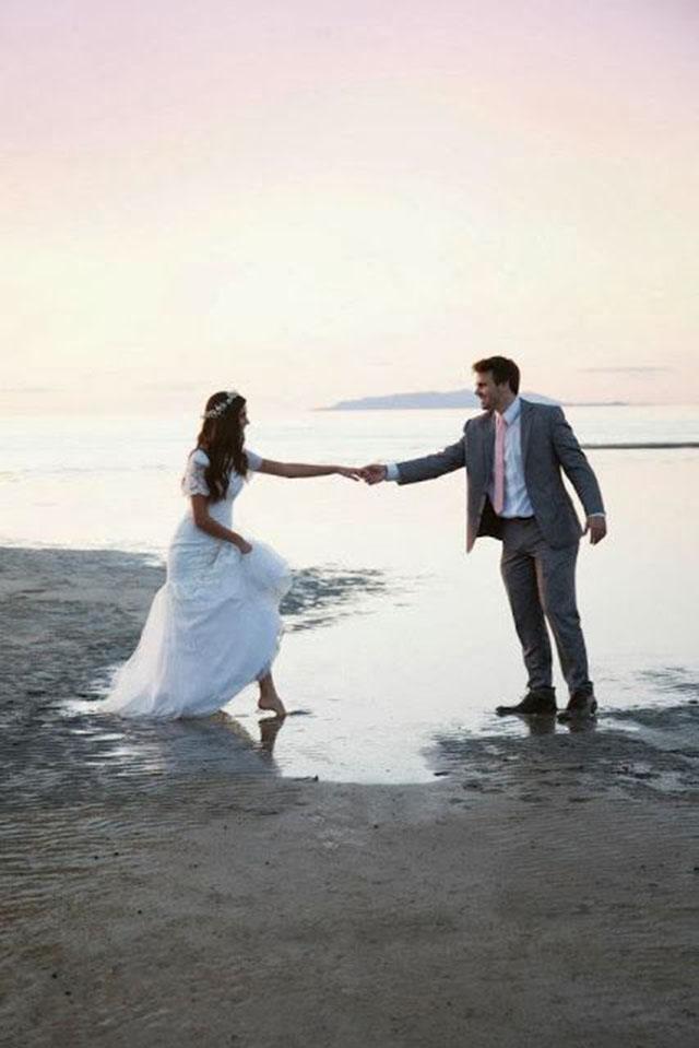 Foto de casamento ao ar livre
