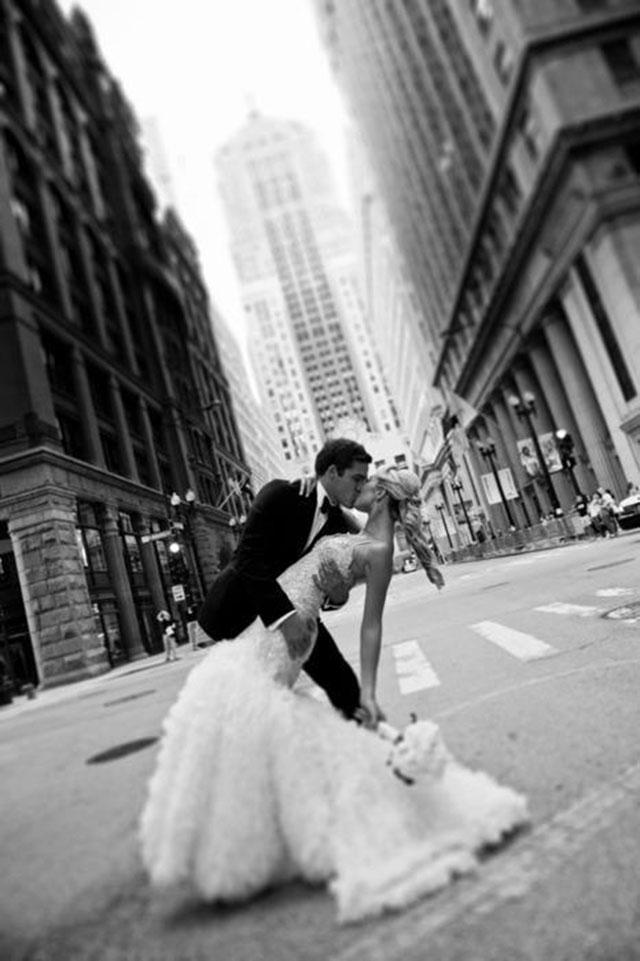 Foto de casamento recem casados
