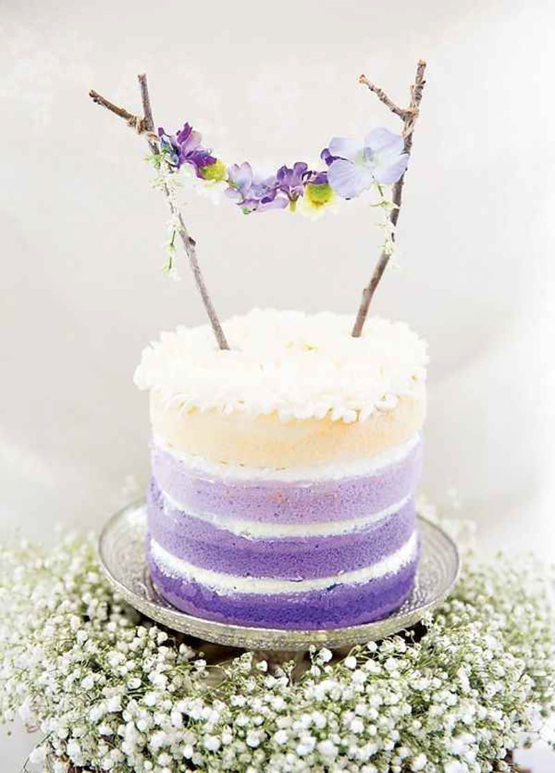 100 naked cake