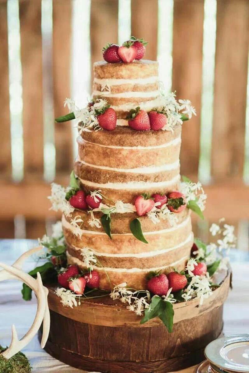 12 naked cake