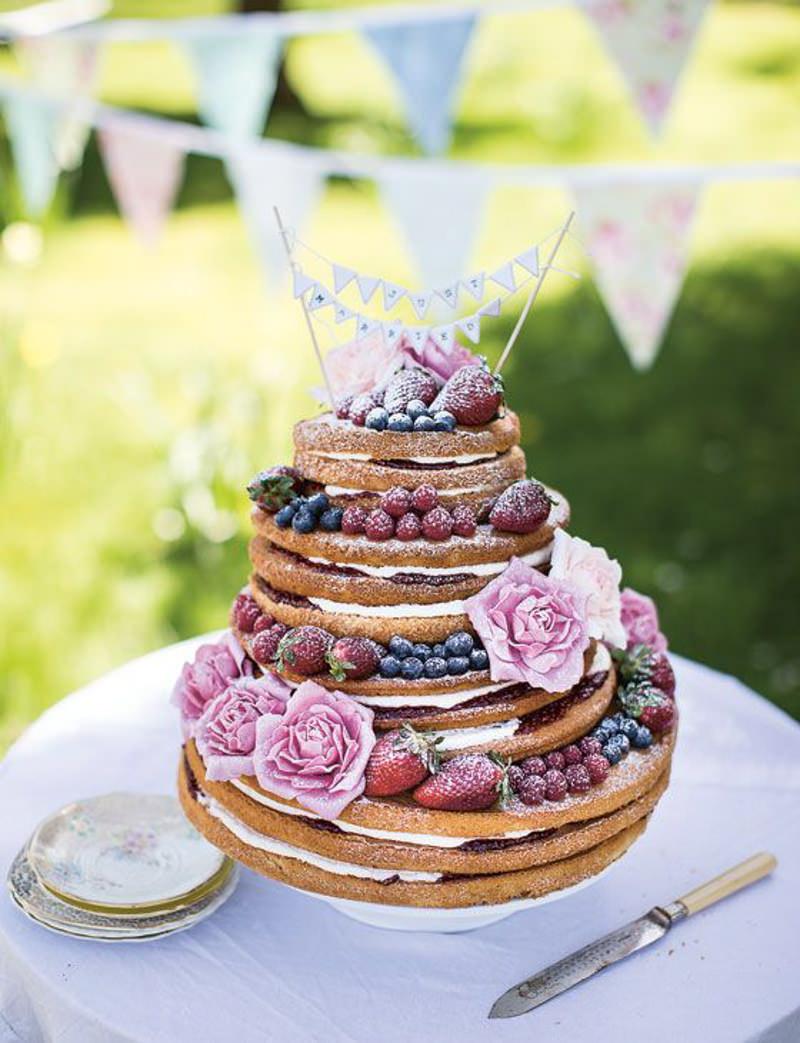 130 naked cake