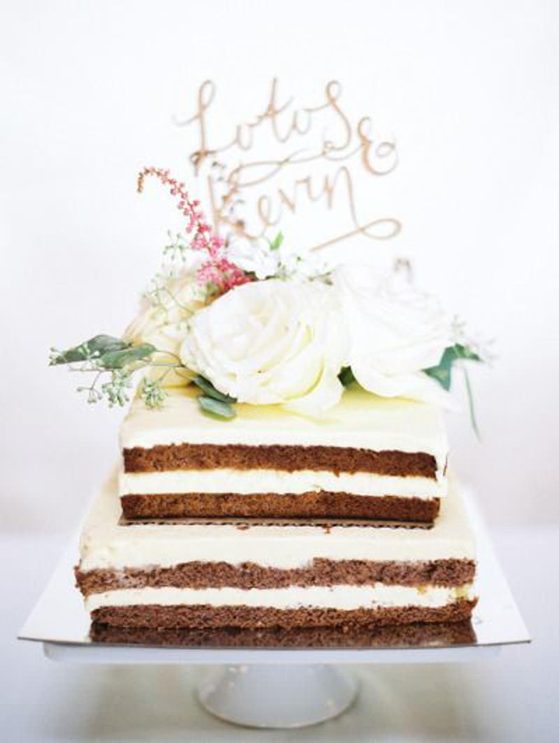 71 naked cake
