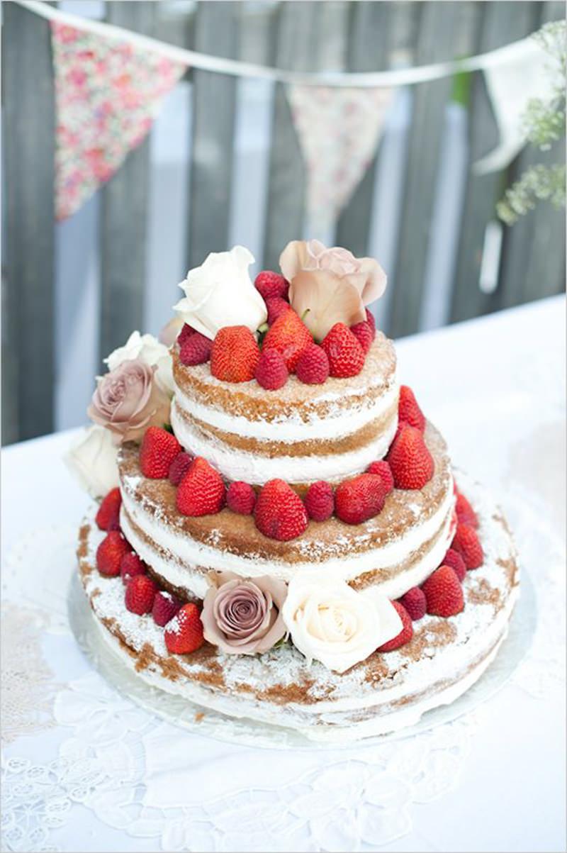75 naked cake