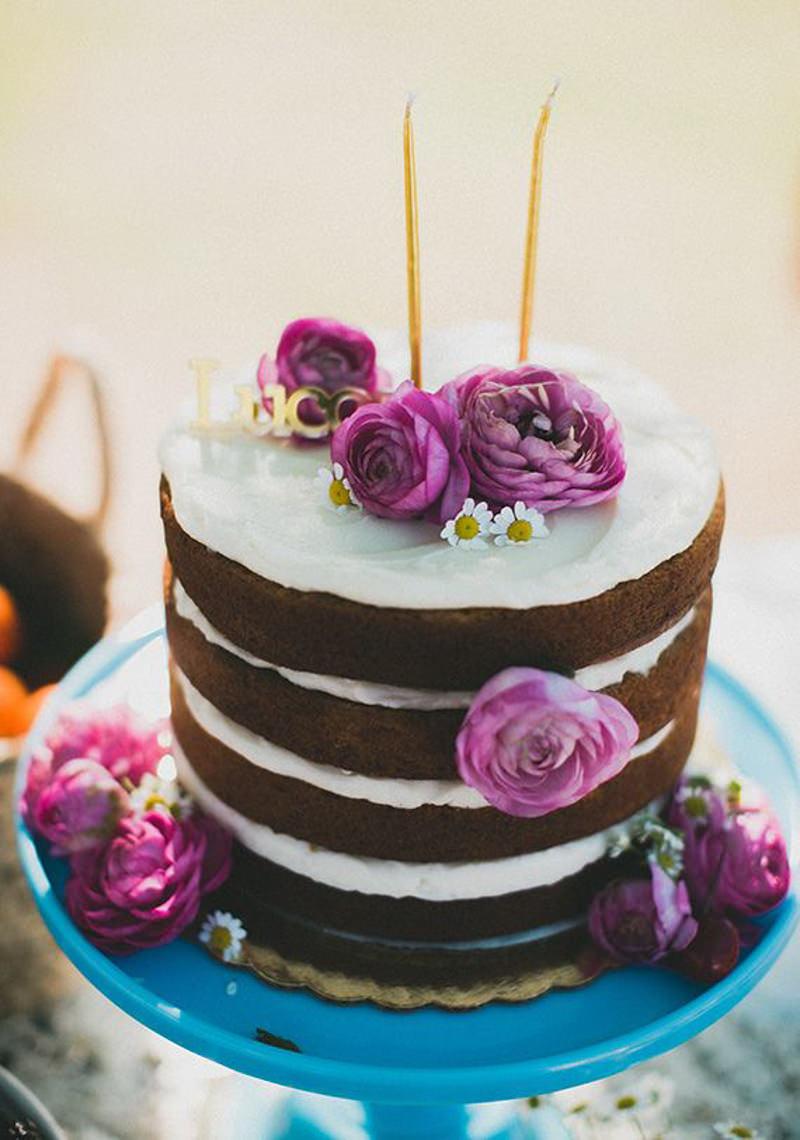 84 naked cake