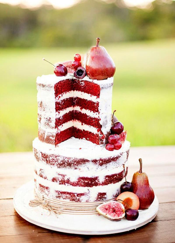 96 naked cake