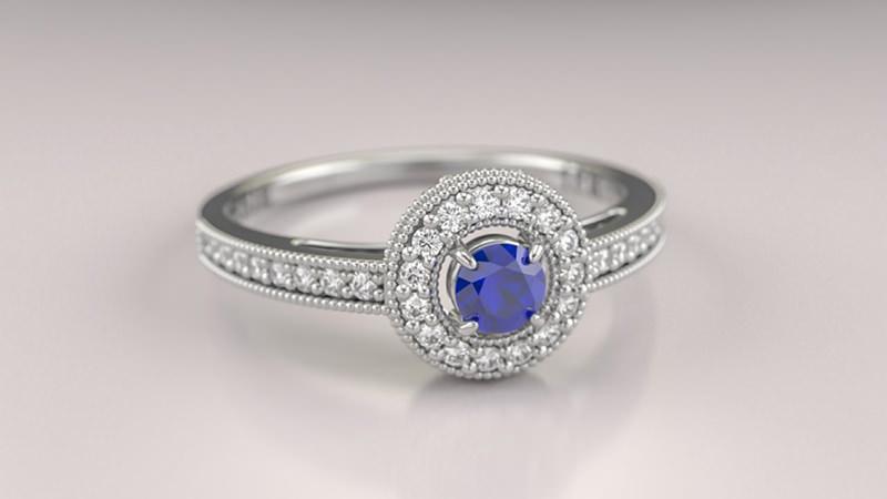 anel-de-noivado-safira-alianca