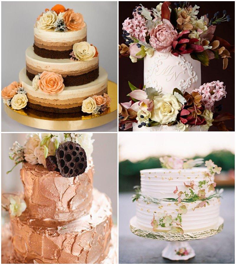 Tendências-de-Casamento-para-2016-bolos-florais-metálicos