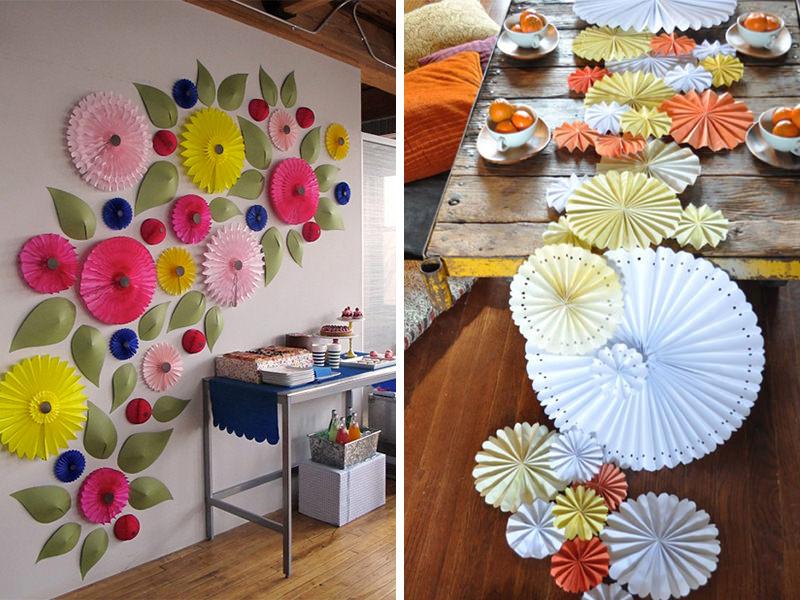 rosetas-leques-de-papel-decoração