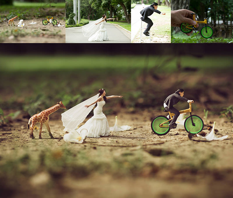 casal-montagem-mini-gente-ensaio-fotos-casamento