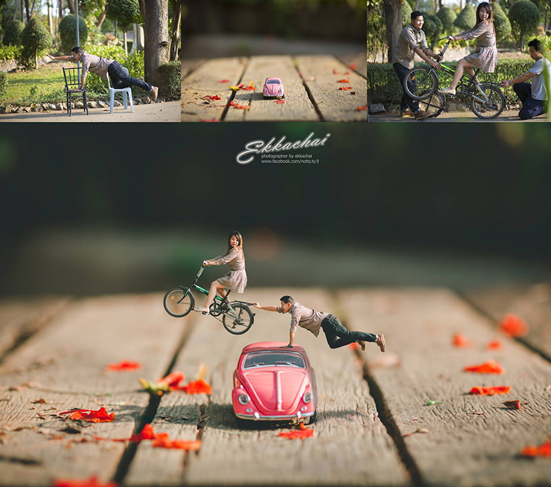 montagem-fotos-mini-casal-fusca-bike