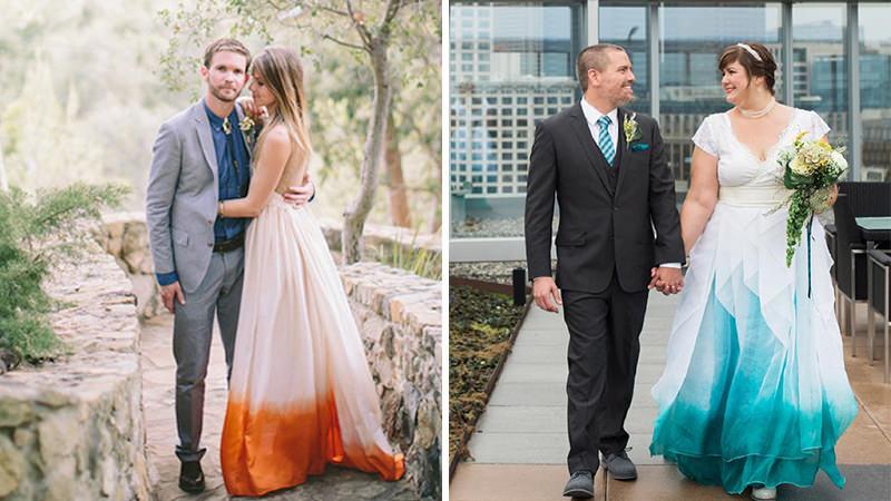 06-noivo-noiva-casamento-traje-vestido-colorido-efeito-dip-dye-degrade