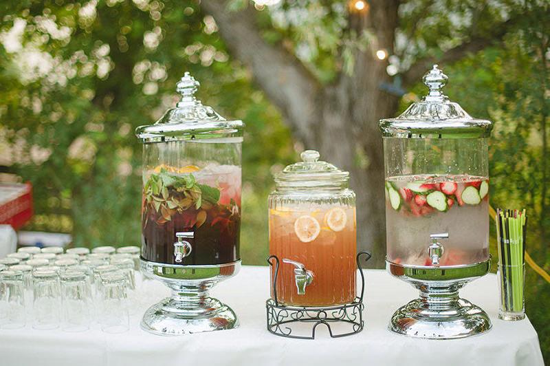 agua-aromatizada-casamento-ar-livre