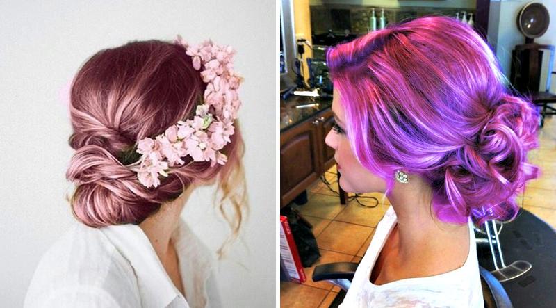 inspiracao-de-penteados-presos-com-cabelos-coloridos-para-casamento-23
