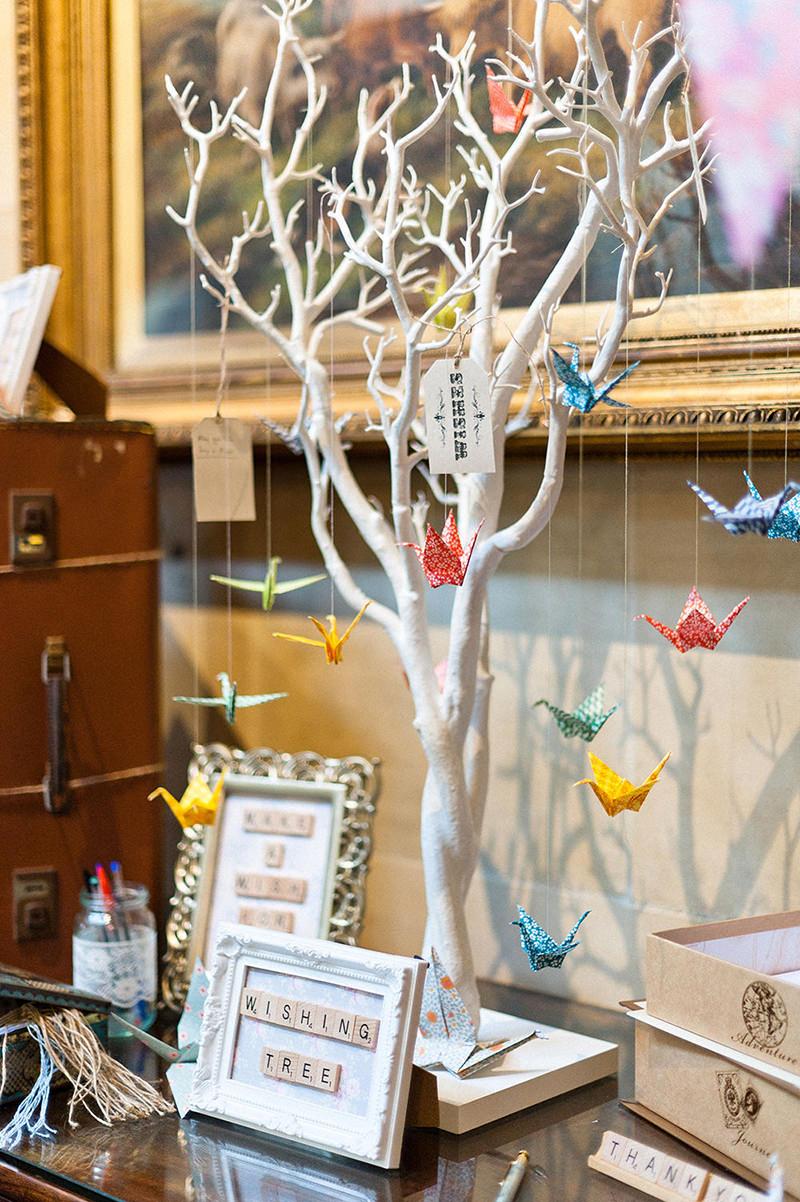 28 ideias fofas de decora u00e7 u00e3o de casamento com origami
