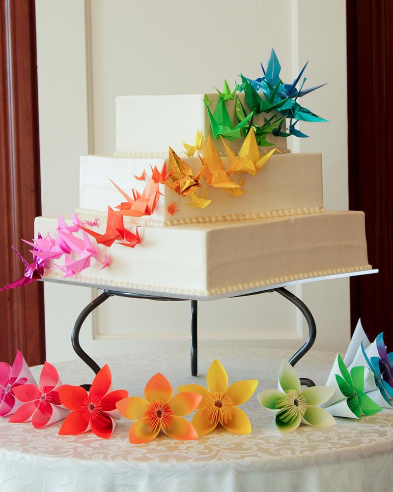 28 ideias fofas de decoração de casamento com origami ...