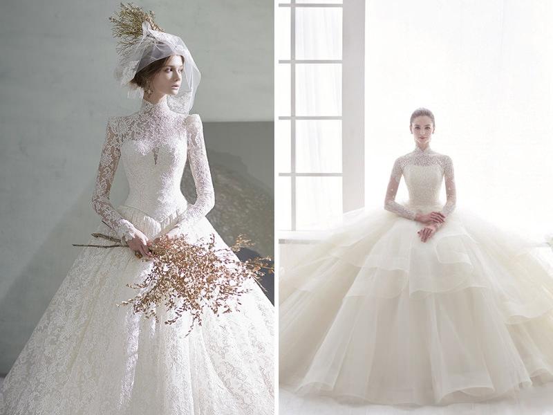 vestido-de-noiva-manga-comprida-estilo-princesa-para-casamento-classico