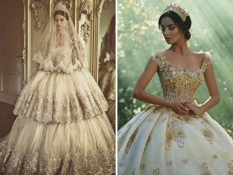 vestidos-com-detalhes-dourados-para-noivas-ousadas