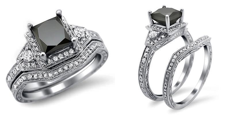 aneis-de-noivado-com-diamante-escuro-para-as-noivas-com-um-lado-negro-princess