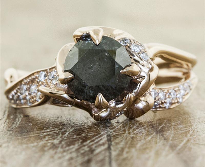 anel-vintage-para-noivado-unico-diamente-escuro