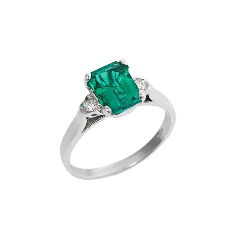alianca-de-noivado-com-esmeralda-retangular-e-diamantes-ouro-branco