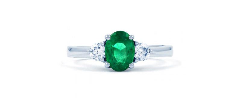alianca-de-noivado-solitario-com-diamante-e-esmeralda-ouro-branco