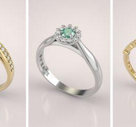 alianca-de-noivado-solitario-com-diamantes-e-detalhe-em-esmeralda-ouro-amarelo-capa