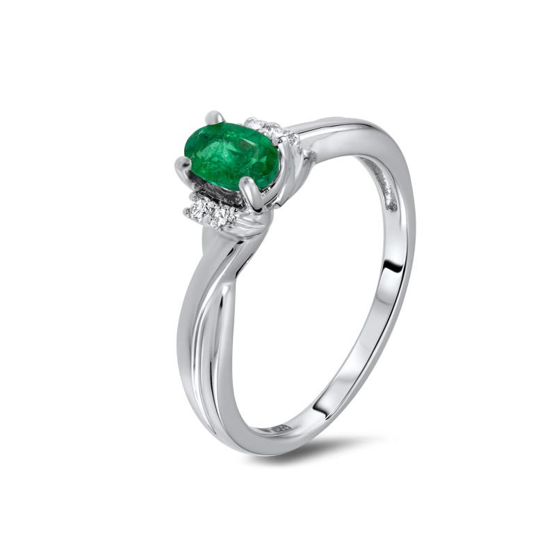 alianca-de-noivado-solitario-com-esmeralda-e-diamantes-ouro-branco