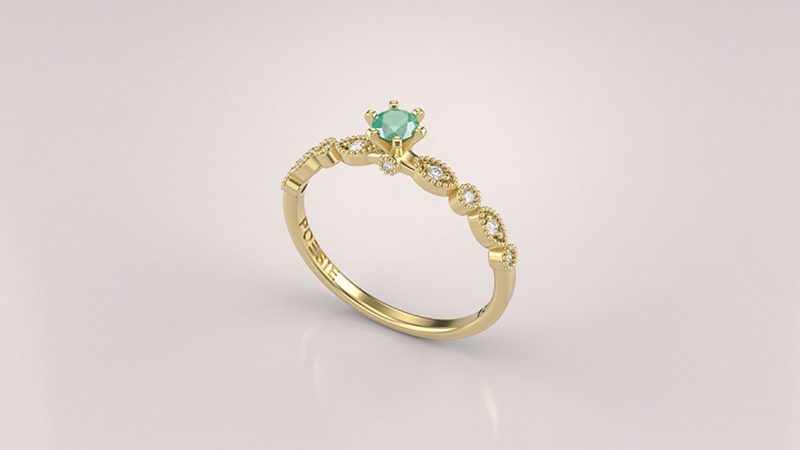 8b6e922a0d3 23 alianças de noivado com esmeraldas para você se inspirar - eNoivado