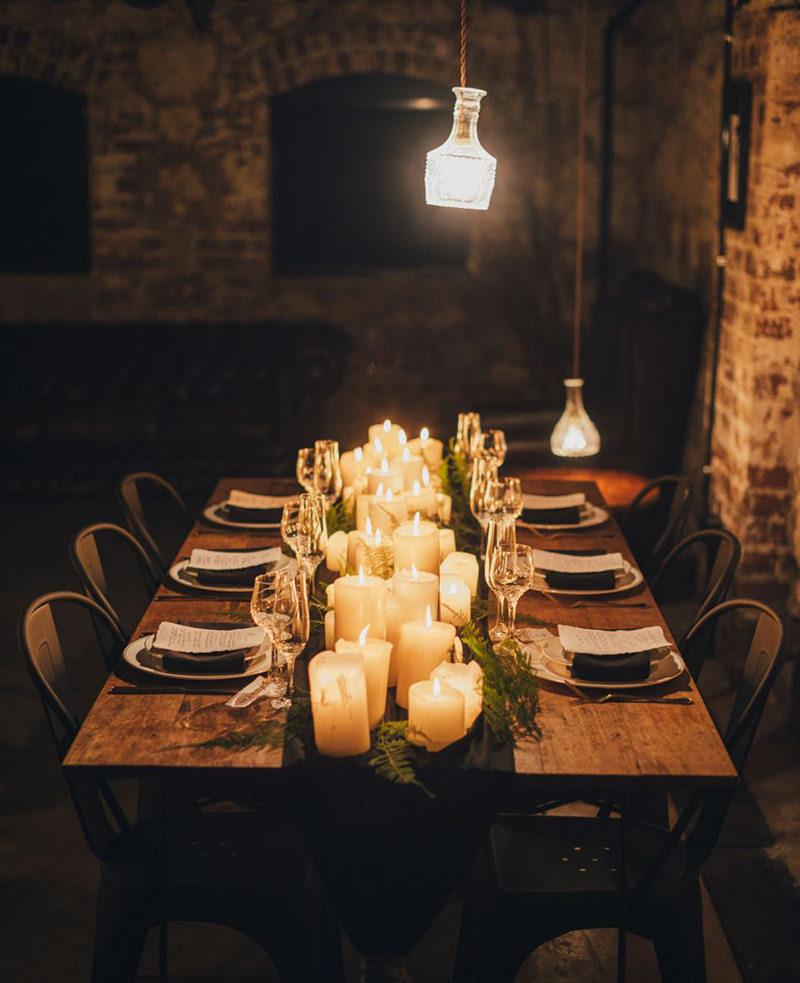 decoracao-com-velas-para-casamento-estilo-rustico
