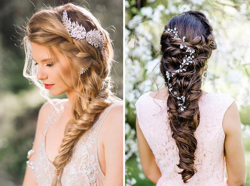 Excepcional 46 ideias de cabelo trançado para as noivas se apaixonarem - eNoivado AI31
