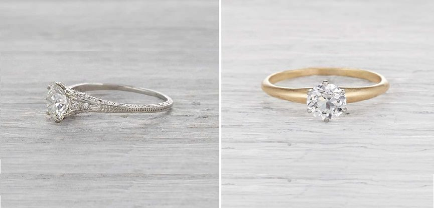 4771cb2bd3132 Veja como os anéis de noivado mudaram ao longo de 100 anos de ...