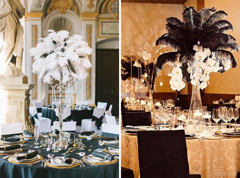espaco-de-eventos-para-casamento-art-deco-detalhe-das-mesas-cartela-de-cores-branco-preto-e-dourado-plumas-34-17