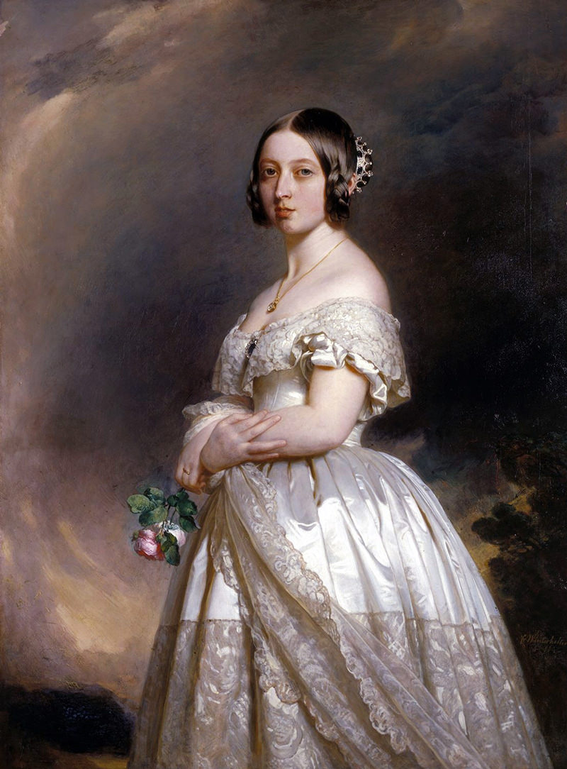 vestido-de-noiva-branco-da-rainha-Victoria-em-1840