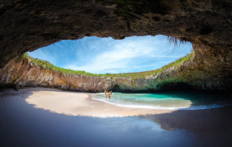 praia-do-amor-marietas-mexico