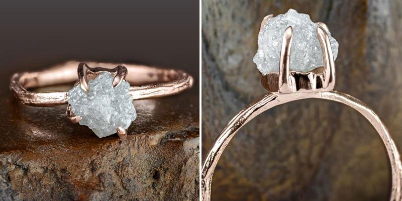 anel-de-noivado-ouro-rose-e-diamante-bruto