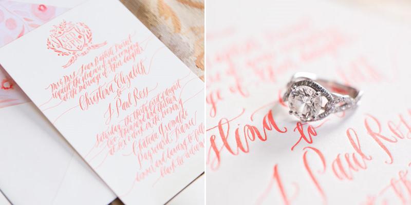 convite-de-casamento-com-escrita-coral