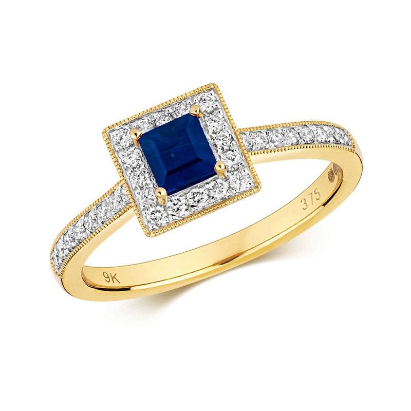 anel-de-noivado-com-safira-quadrada-e-diamantes-ao-seu-redor