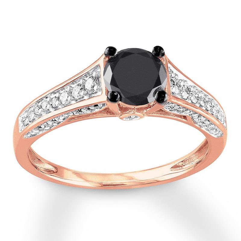 anel-de-noivado-ouro-rosa-com-diamante-negro-no-centro
